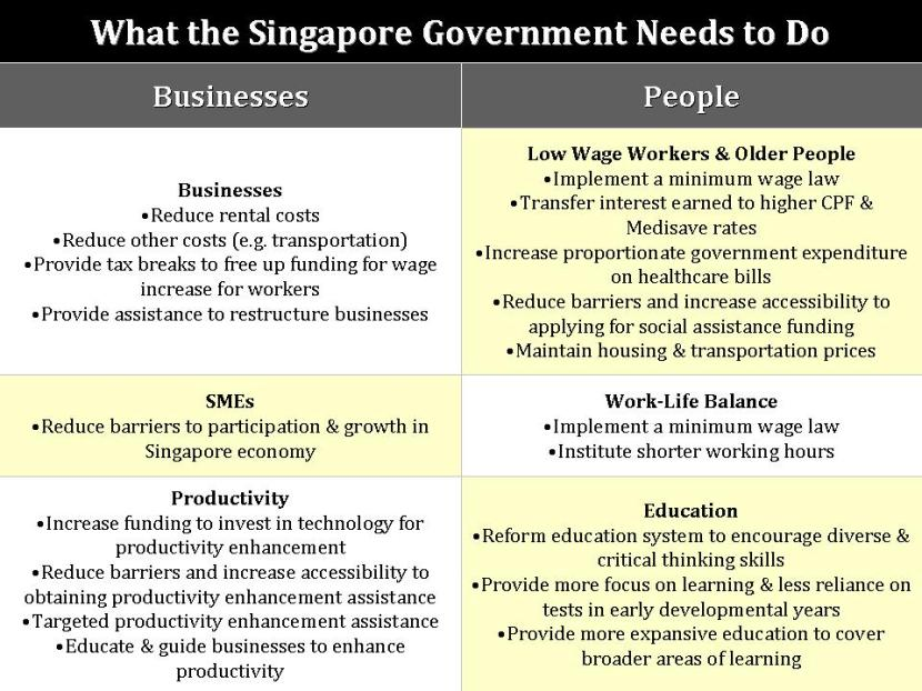 What the Singapore Government Needs to Do