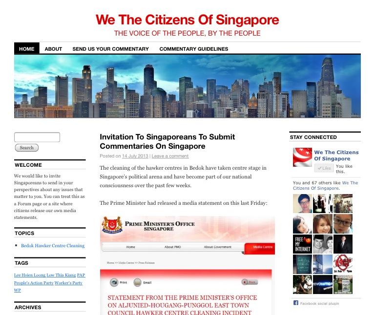 We The Citizens Of Singapore Screenshot