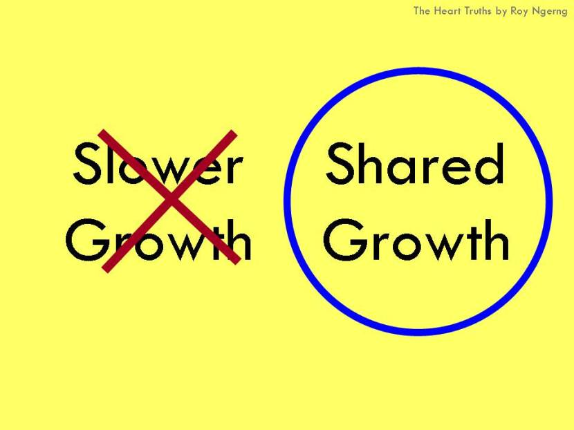 Slower Growth vs Shared Growth