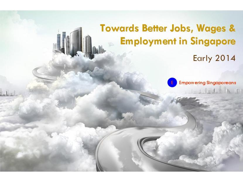 Towards Better Jobs, Wages & Employment in Singapore Teaser Poster