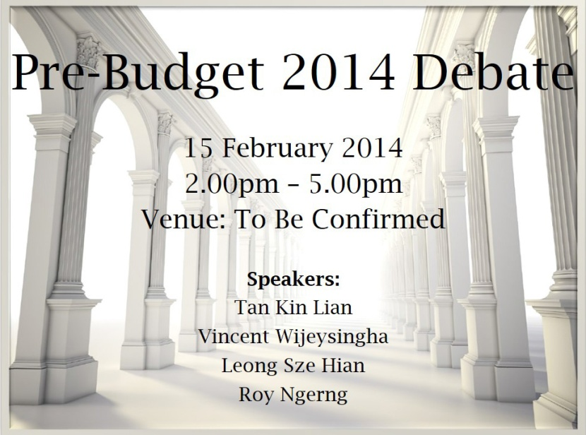 Pre-Budget 2014 Debate