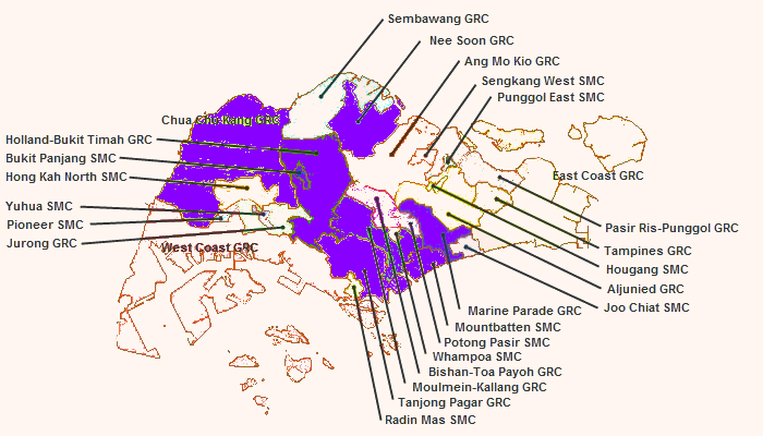 Singapore Constituency Map Anti-Gay Faction