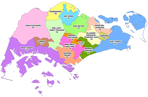 Town Councils Map