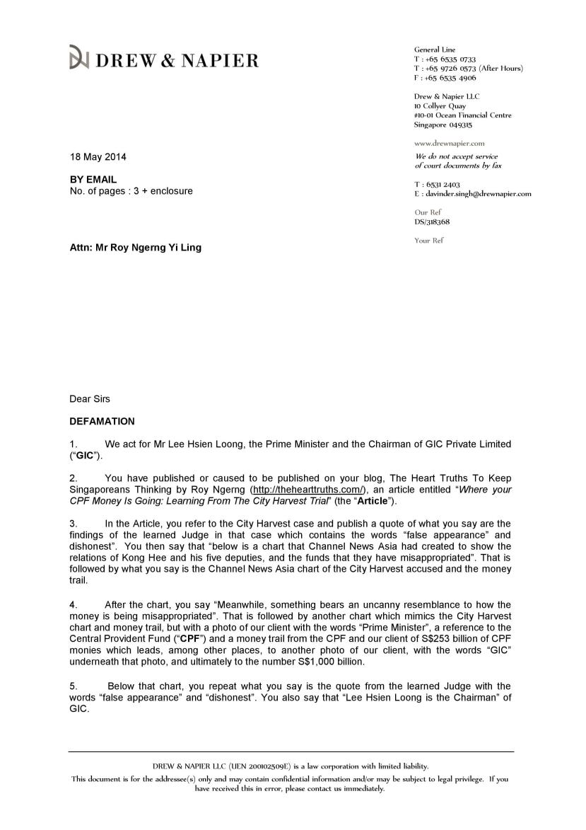 attorney opinion letter mortgage the truths roy ngerng issued letter of 18664 | 318368 letter of demand 18may2014 page 001a