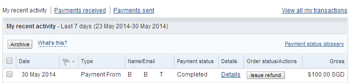 PayPal 30 May 2014