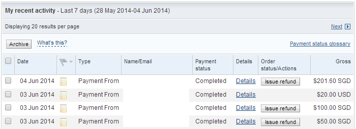 PayPal 3 to 4 June 5pm