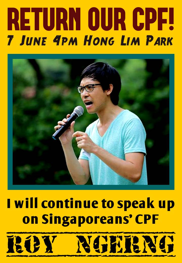 Return Our CPF@I will continue to speak up on Singaporeans' CPF