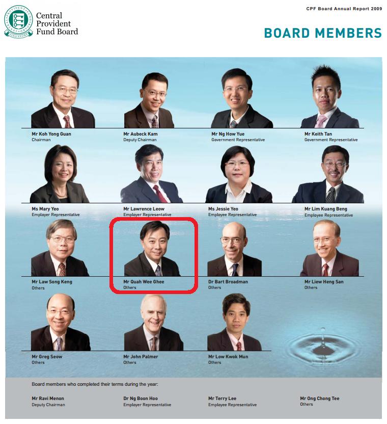 CPF Board Member Quah Wee Ghee