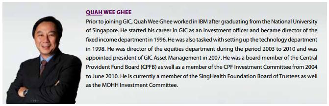 GIC Board of Directors Quah Wee Ghee