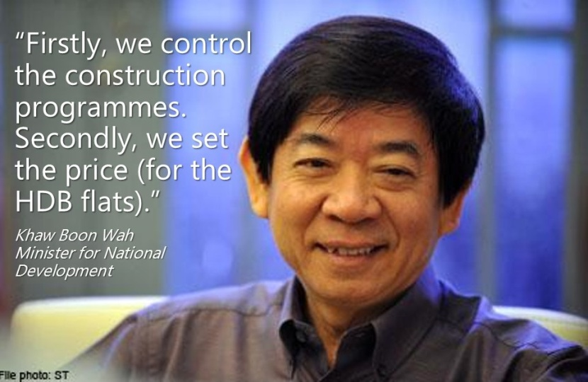 Khaw Boon Wah Firstly, we control the construction programmes. Secondly, we set the price