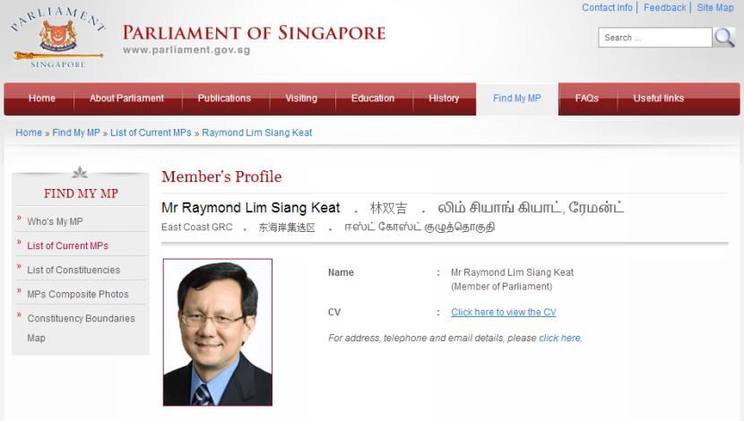 Parliament Raymond Lim