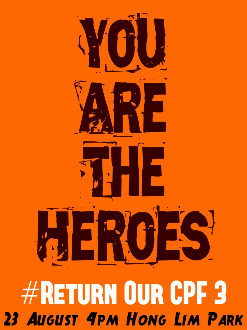 Return Our CPF 3 Poster You Are the Heroes