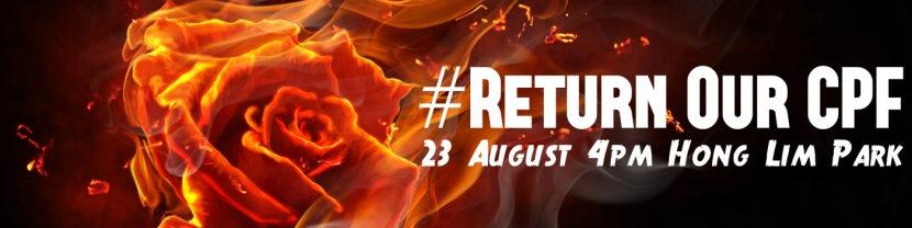 Return Our CPF burning rose poster