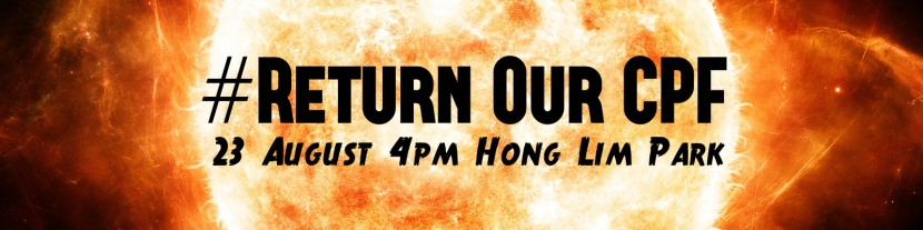 Return Our CPF burning sun poster