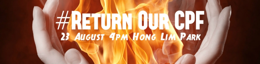 Return Our CPF fire hands poster