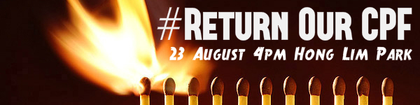 Return Our CPF matchsticks poster