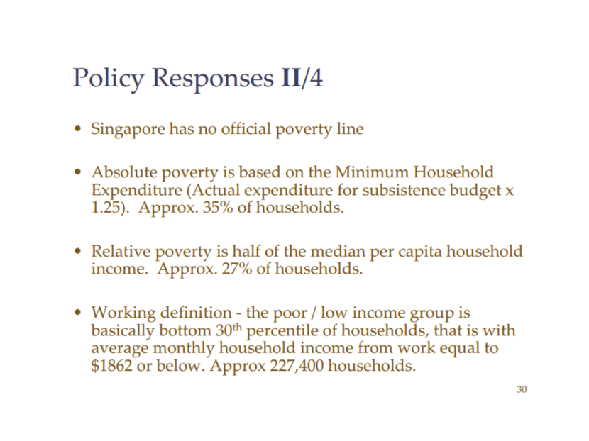 Singapore Poverty Rate Asher 2007