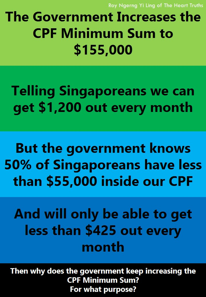 The Government Increases the CPF Minimum Sum Knowing that we can only get $425 every month