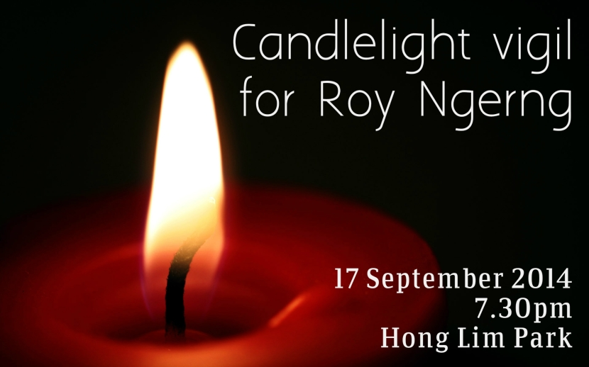 Candlelight Vigil for Roy Ngerng 1