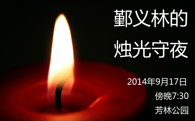 Candlelight Vigil for Roy Ngerng 1@chinese