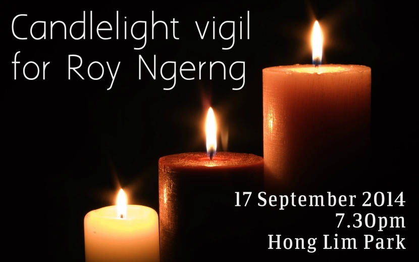 Candlelight Vigil for Roy Ngerng 2