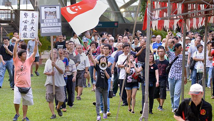 Return Our CPF Protest March The Straits Times