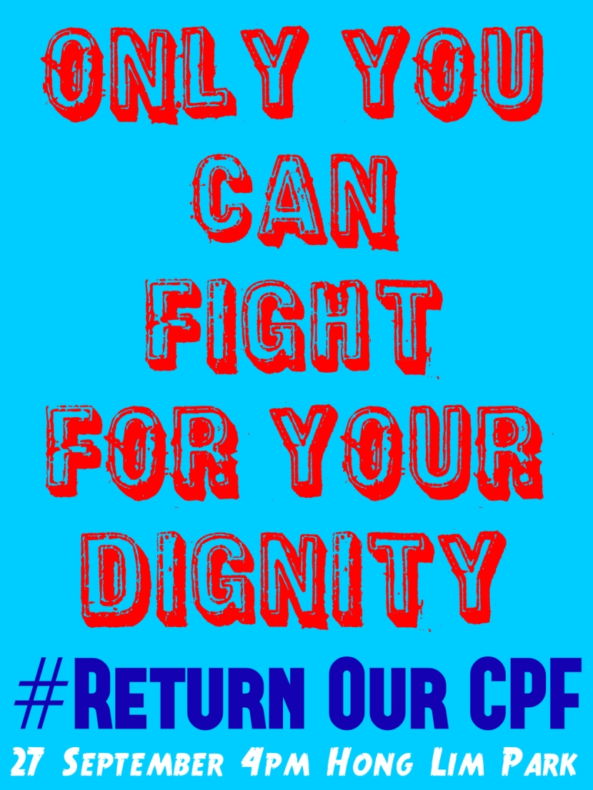 #ReturnOurCPF 4 Poster Only You Can Fight for Your Dignity