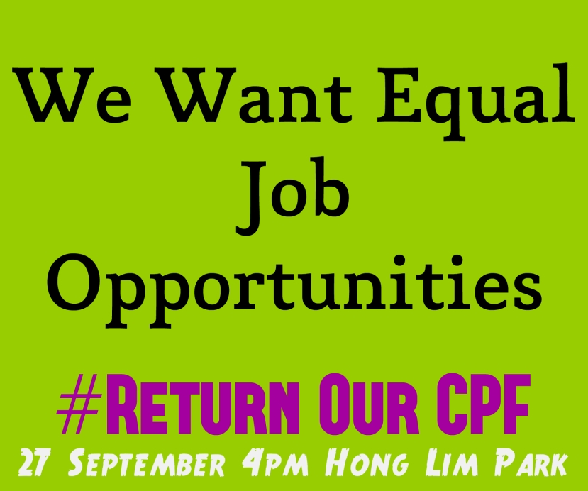 #ReturnOurCPF 4 Poster We Want Equal Job Opportunities