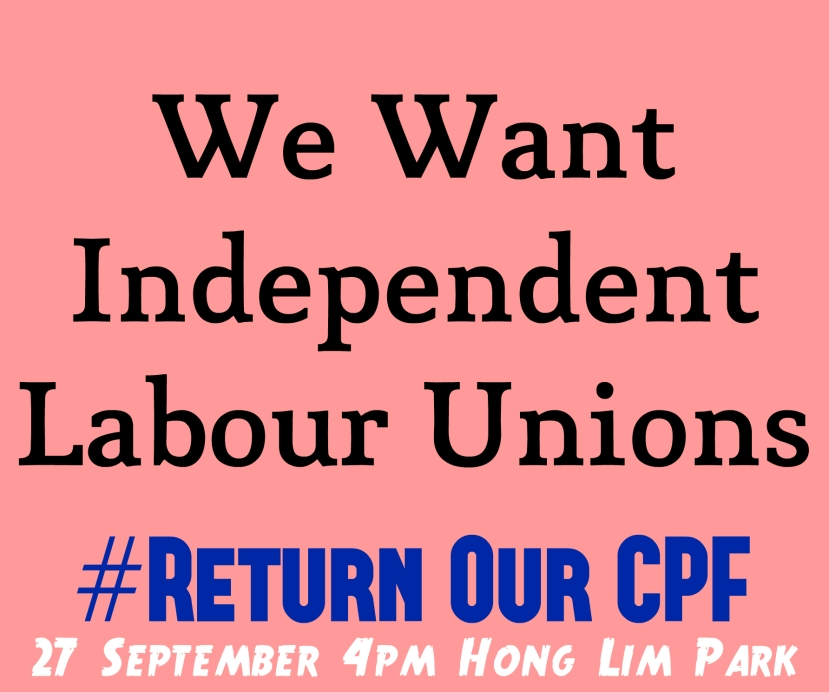 #ReturnOurCPF 4 Poster We Want Independent Labour Unions
