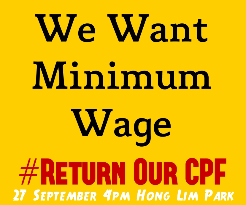 #ReturnOurCPF 4 Poster We Want Minimum Wage