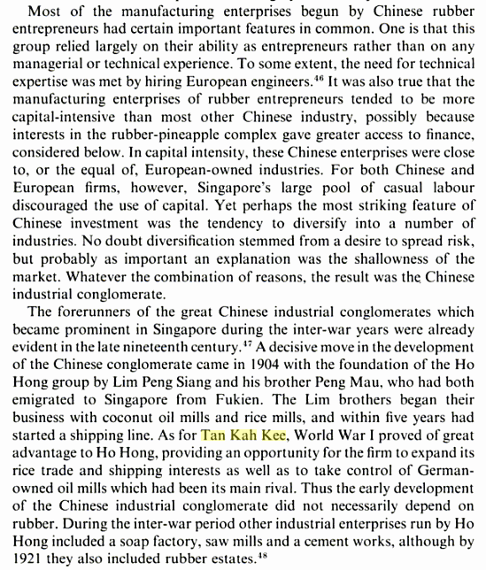 The Economic Growth of Singapore Trade and Development in the Twentieth Century a edited