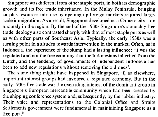 The Economic Growth of Singapore Trade and Development in the Twentieth Century b edited