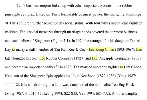 Transnational Business Networks and Sub-ethnic Nationalism Chinese Business and Nationalist Activities in Inter-war Singapore (1919-1941) a edited