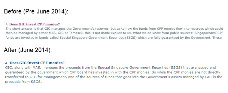 Chart 10 Admission of the government and the GIC to the use of Singaporeans' CPF in the GIC
