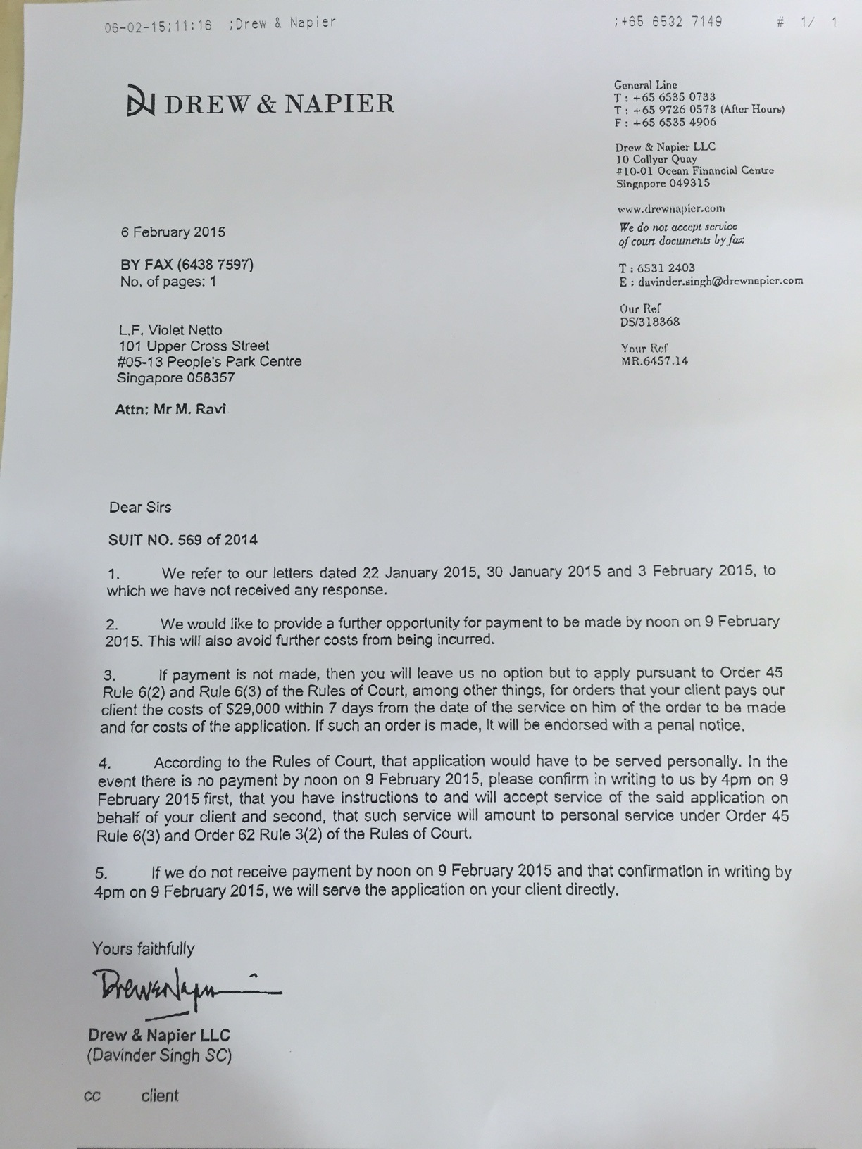 Lee Hsien Loongs Lawyers Drew Amp Napier Are Not Allowing