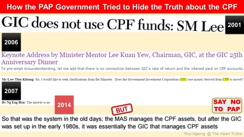 2 How the PAP Government Tried to Hide the Truth about the CPF @ 2001 2006 2007