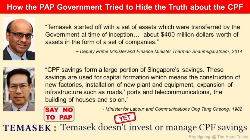 3 How the PAP Government Tried to Hide the Truth about the CPF @ Temasek