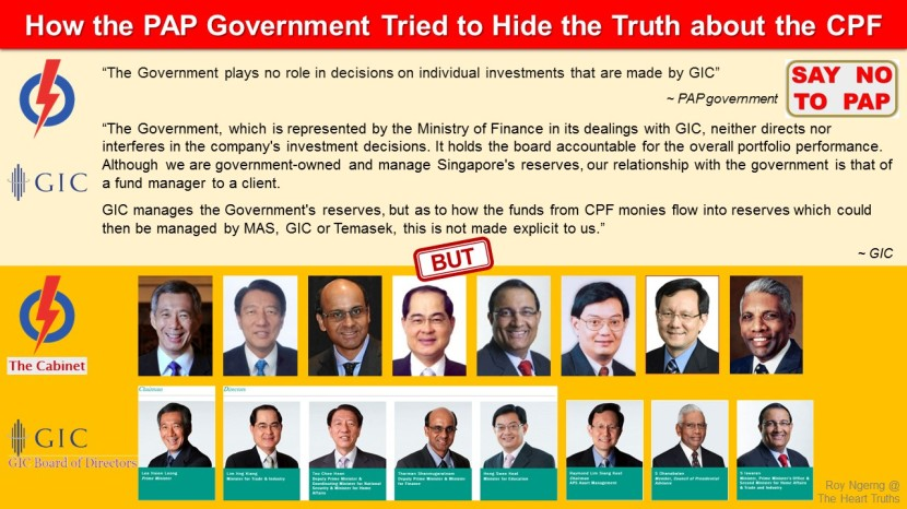 4 How the PAP Government Tried to Hide the Truth about the CPF @ GIC Board of Directors
