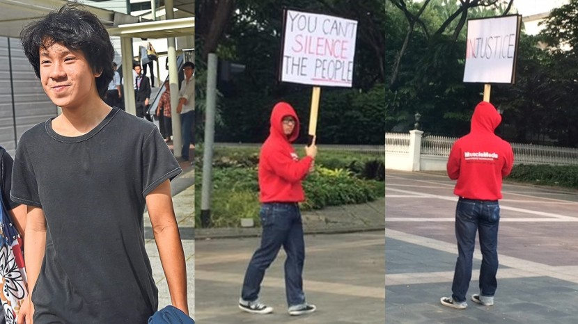 Men Protest Istana Amos Yee