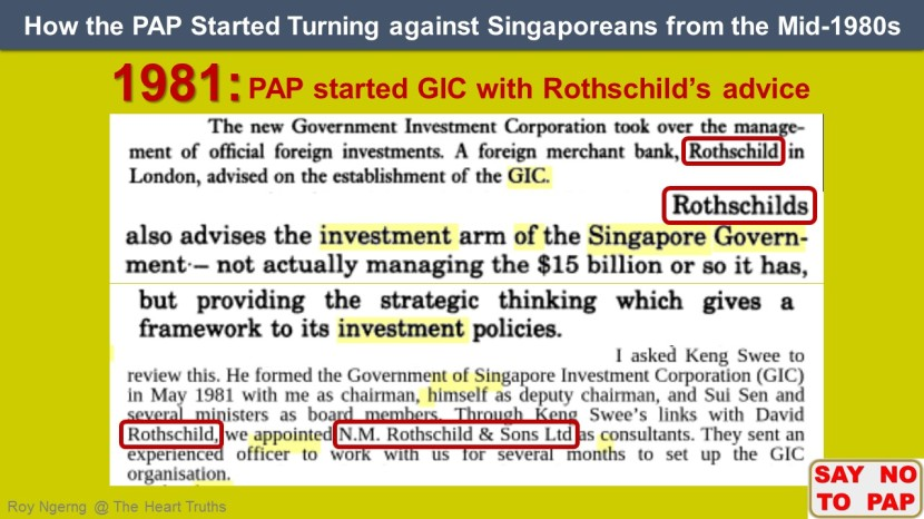 1 How the PAP Started Turning against Singaporeans from the Mid-1980s @ Rothschild