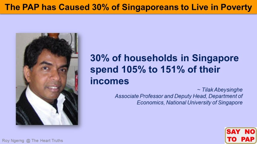 2 Do You Know that 30% of Singaporeans Live in Poverty @ Tilak Abeysinghe