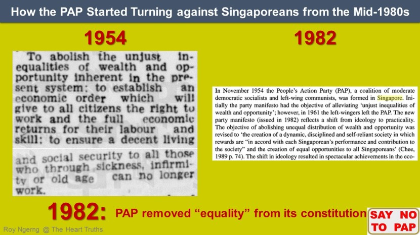 2 How the PAP Started Turning against Singaporeans from the Mid-1980s @ 1982 Constitution