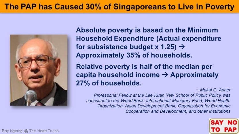 4 Do You Know that 30% of Singaporeans Live in Poverty @ Mukul G. Asher