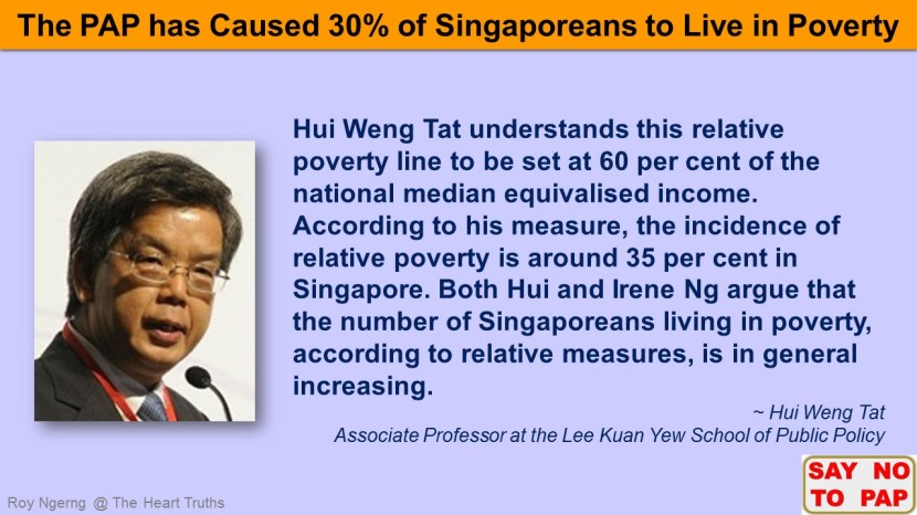 6 Do You Know that 30% of Singaporeans Live in Poverty @ Hui Weng Tat