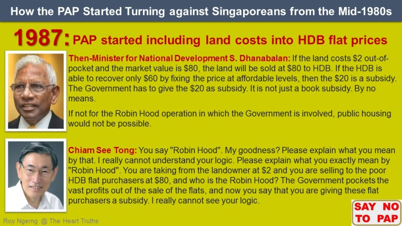 6 How the PAP Started Turning against Singaporeans from the Mid-1980s @ Land shortened