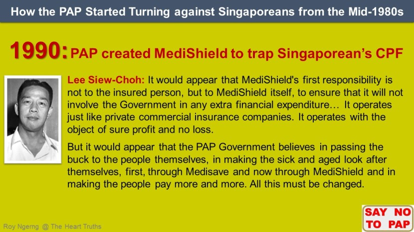 7 How the PAP Started Turning against Singaporeans from the Mid-1980s @ MediShield shortened