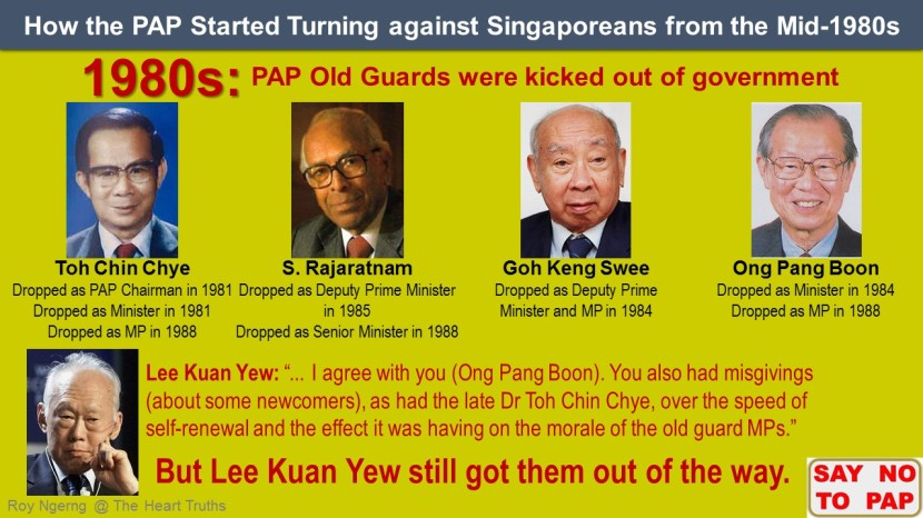 9 How the PAP Started Turning against Singaporeans from the Mid-1980s @ Old Guards