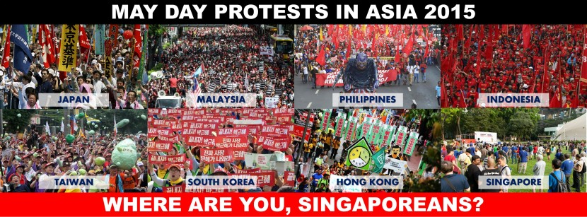 MAY DAY PROTESTS IN ASIA 2015