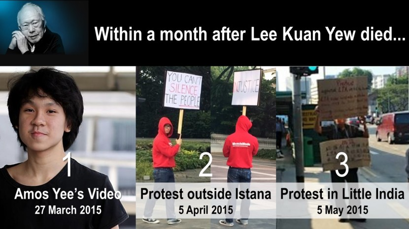 Within a month after Lee Kuan Yew died... 2