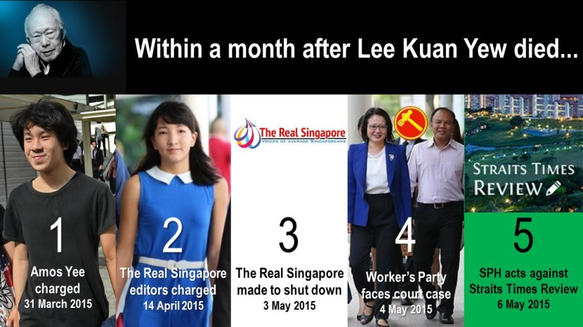 Within a month after Lee Kuan Yew died...